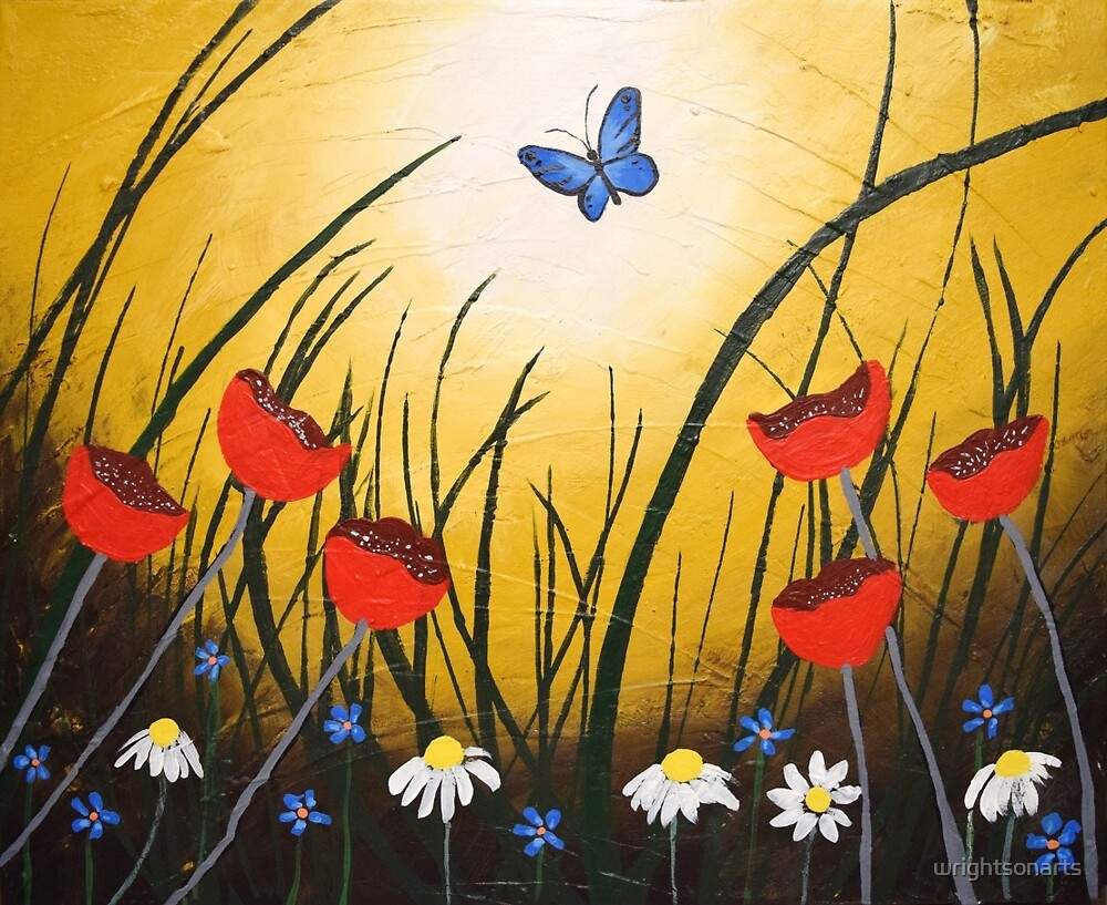 butterfly haven painting wall art canvas artwork by wrightsonarts