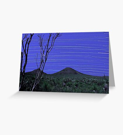 Star Trails - Stirling Ranges Western Australia Greeting Card