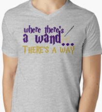 Where there's a wand, there's a way! Mens V-Neck T-Shirt