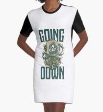 Going Down Graphic T-Shirt Dress