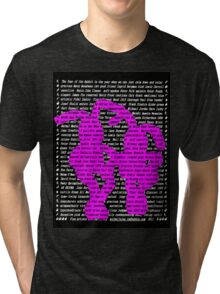 """""""The Year Of The Rabbit / Hare"""" Clothing (Take 2) Tri-blend T-Shirt"""