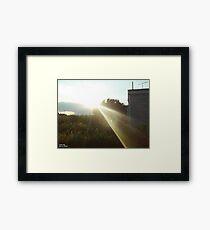 Light That Gives Life ! Framed Print