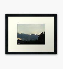 SunDown 5 Framed Print