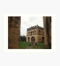 Women at Gondar Castles, Ethiopia Art Print