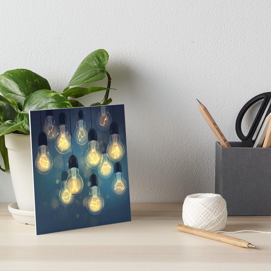 constellation lights Art Board Print