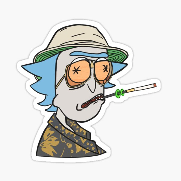 Rick in bat country Sticker