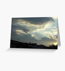 Dieing Storm  Greeting Card
