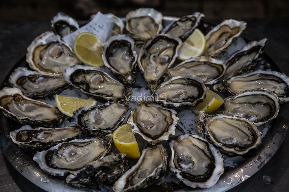 France. La Rochelle. Oysters at the Market. by vadim19