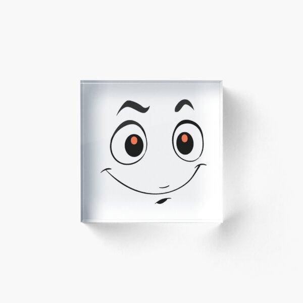 Smile  Acrylic Block