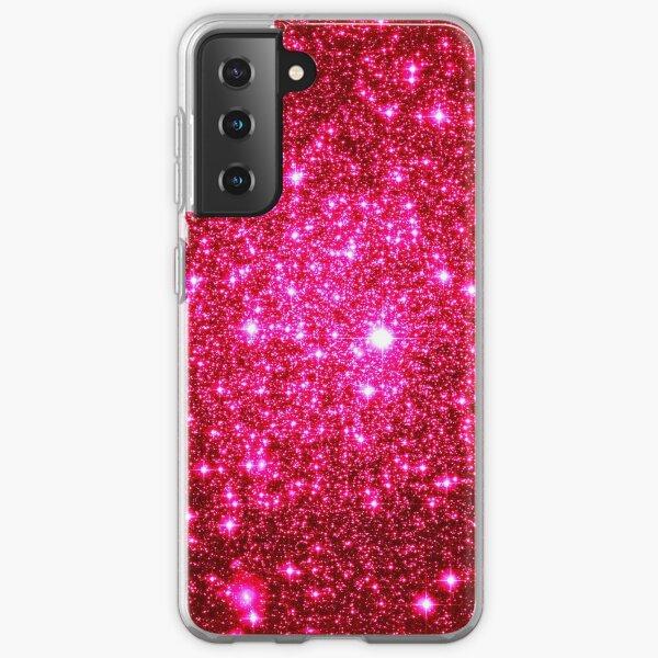 Galaxy Sparkle Stars Hot Pink Samsung Galaxy Soft Case