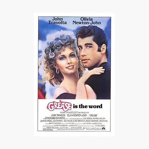 Grease Poster Photographic Print