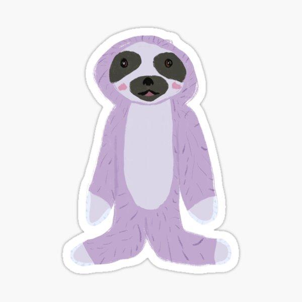 Purple Cute Sloth Sticker