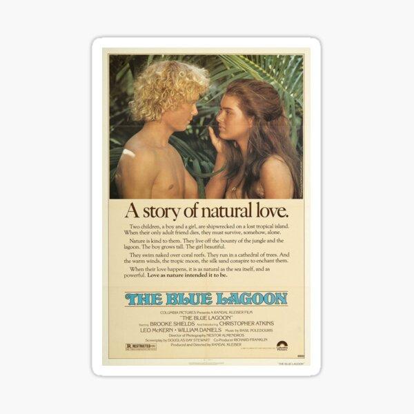 The Blue Lagoon Poster Sticker