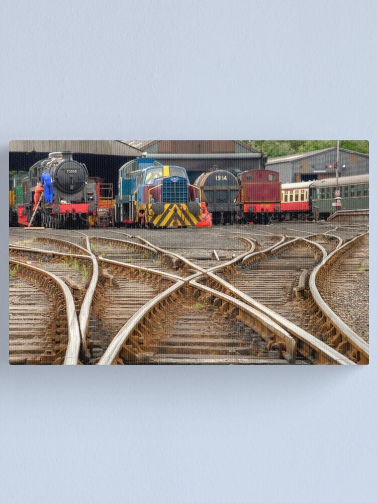 Alternate view of Wansford Train Yard HDR Canvas Print