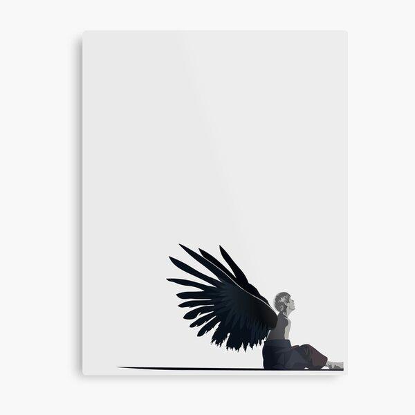 BTS Taehyung - Black Swan: Shadows Metal Print