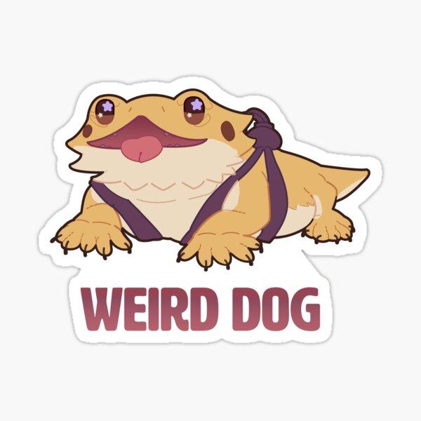 weird dog Sticker