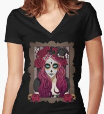 Day of the Dead Women's Fitted V-Neck T-Shirt