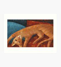 Modigliani cat Art Print