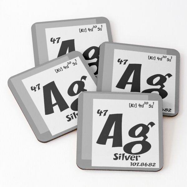 Ag element  Coasters (Set of 4)