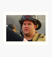 Fireman Art Print