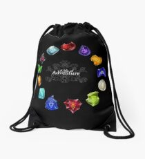 A Life of Adventure Drawstring Bag