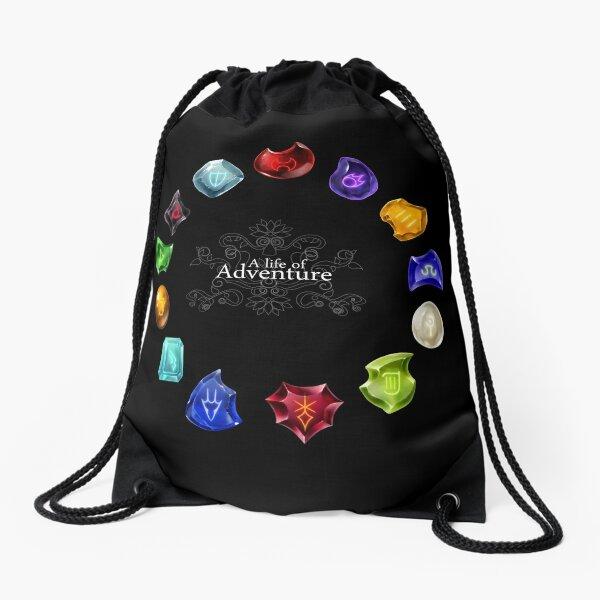 A Life of Adventure Drawstring Bag