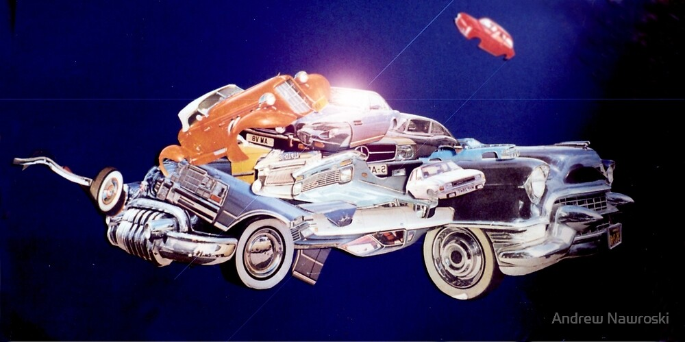 Car in Space. by Andrew Nawroski