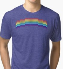 Retro Rainbow Tri-blend T-Shirt