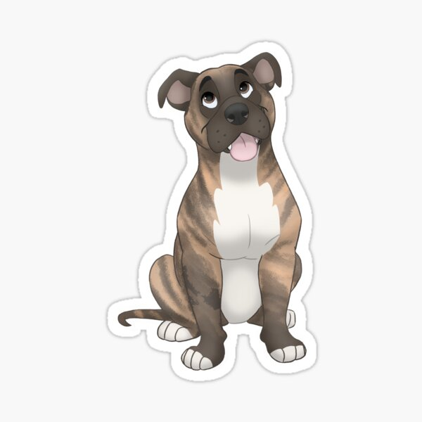 Brindle pit bull  Sticker