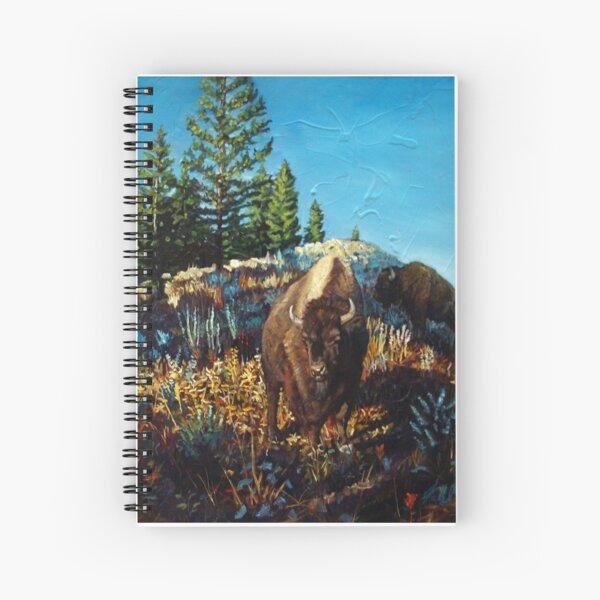 Bison on hill Spiral Notebook