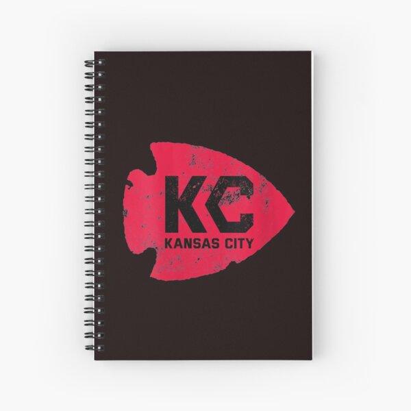Womens Kansas City Arrowhead Kc Distressed Vintage V neck T shirt Spiral Notebook