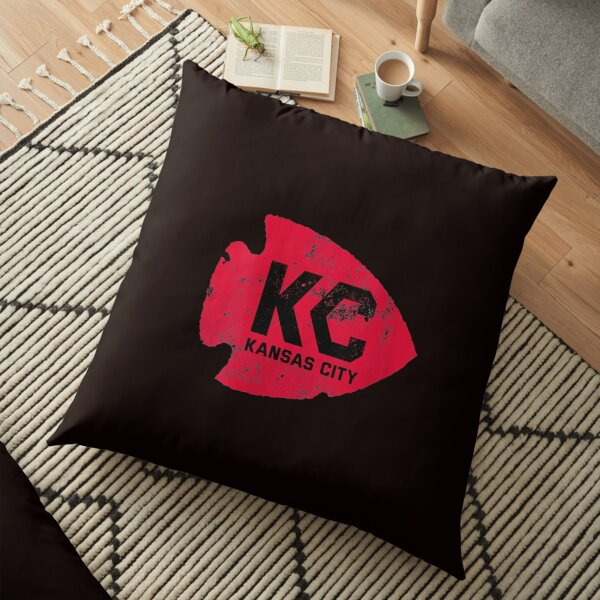 Womens Kansas City Arrowhead Kc Distressed Vintage V neck T shirt Floor Pillow