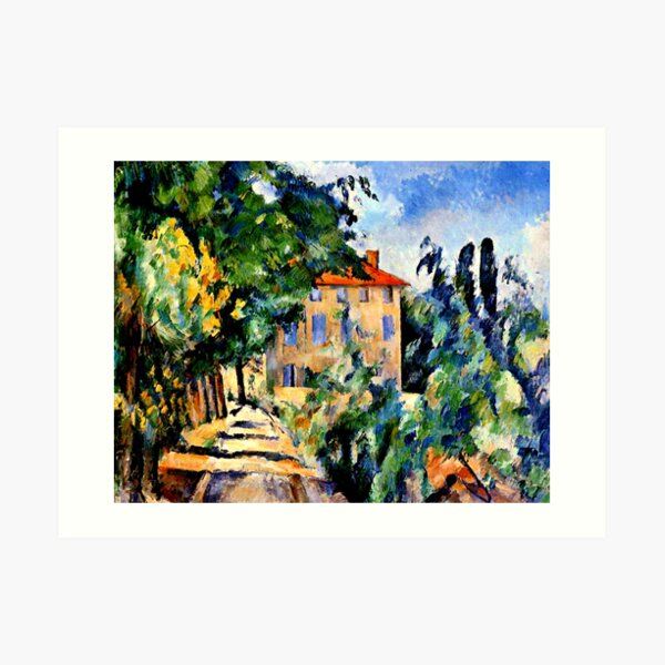 Cezanne - House with Red Roof Art Print