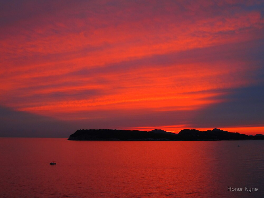 Croatian Sunset by Honor Kyne