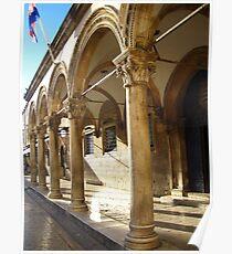 Columns - Dubrovnik Poster