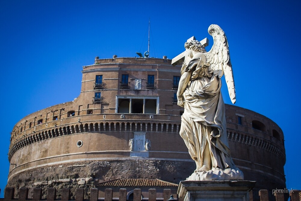Castel Sant Angelo with Angel by pixelink
