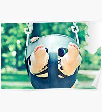 Swinging Baby's Chubby Feet Poster