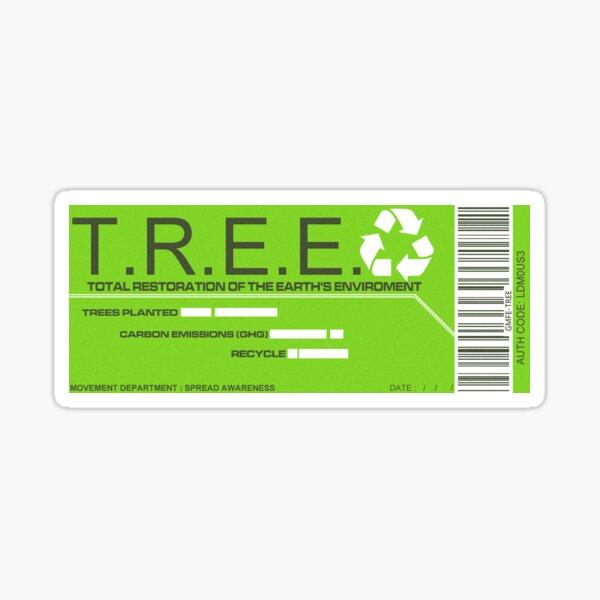 TREE Enviromentalist Movement Sticker Sticker