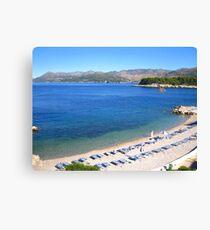 Dubrovnik Beach Canvas Print