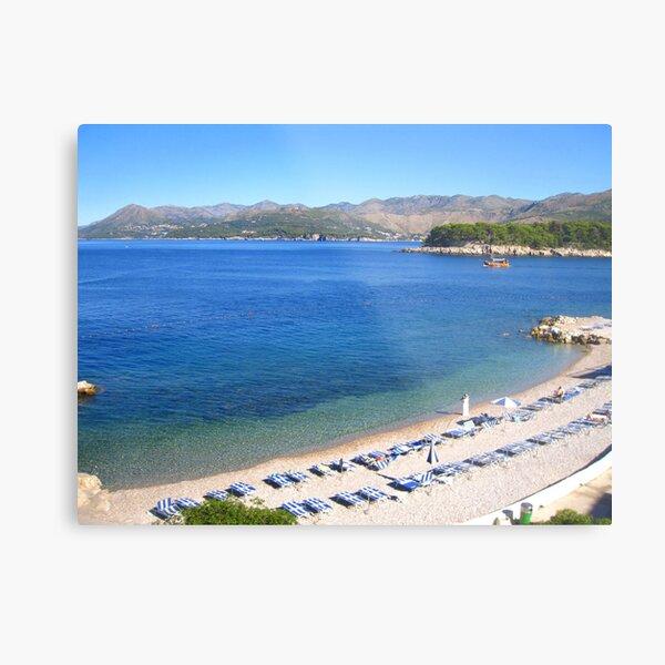 Dubrovnik Beach Metal Print