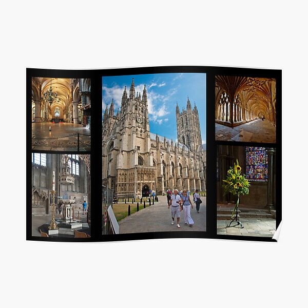 Canterbury Cathedral Collage Poster