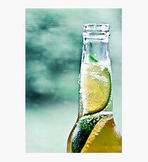 Corona with two limes Photographic Print