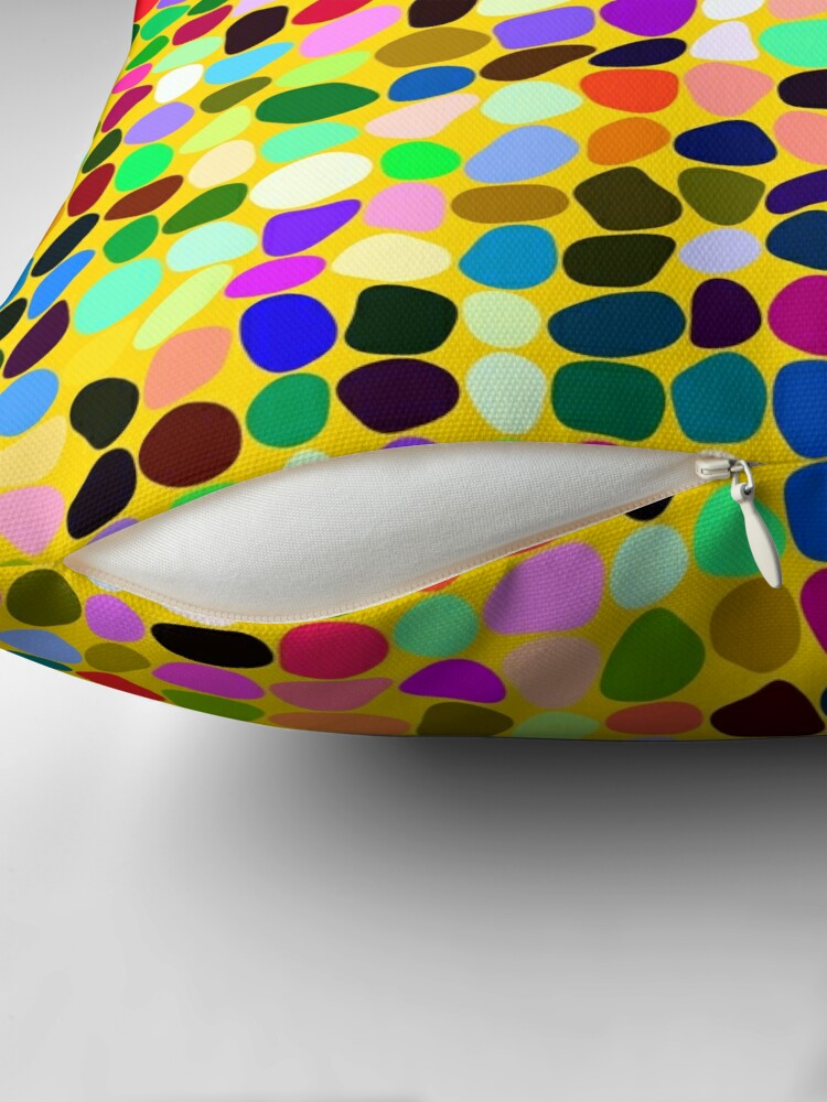 Alternate view of Products decorated with random colored shapes Throw Pillow