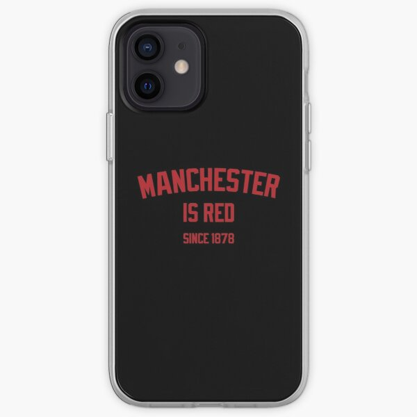 Manchester is Red English Soccer British Football Jersey  iPhone Soft Case