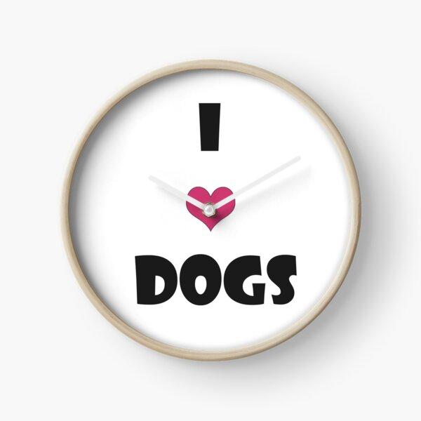 just a generic i love dogs design Clock