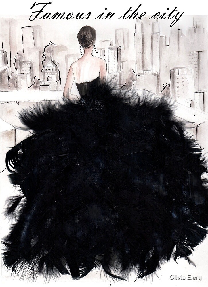 Feather dress  by Olivia Elery