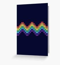 Retro Rainbow - Wave Greeting Card