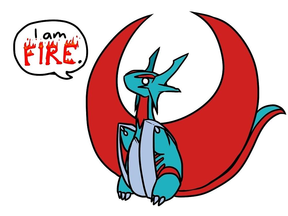 Mega Salamence - I am Fire by Flauschwurm