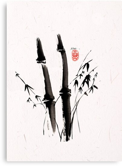 Sumi-e Bamboo by Ron C. Moss