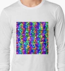 Random colored shapes Long Sleeve T-Shirt